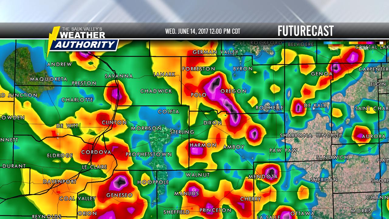 Slight Risk of Severe Thunderstorms Today ...